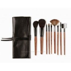 Bubinga Natural Makeup Brush Set - 9 Piece