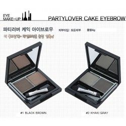 SET DE CEJAS - EASY TOUCH CAKE EYE BROW 02 GRAY BROWN