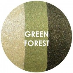 BAKED EYE SHADOW - TRIOS - GREEN FOREST