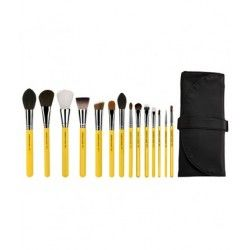 Set Brochas de maquillaje - The Collection 14pc. Brush Set with Roll-up Pouch (Studio Line)